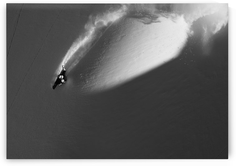 Person extreme snowboarding in mountains above Haines, Southeast Alaska, USA by PacificStock