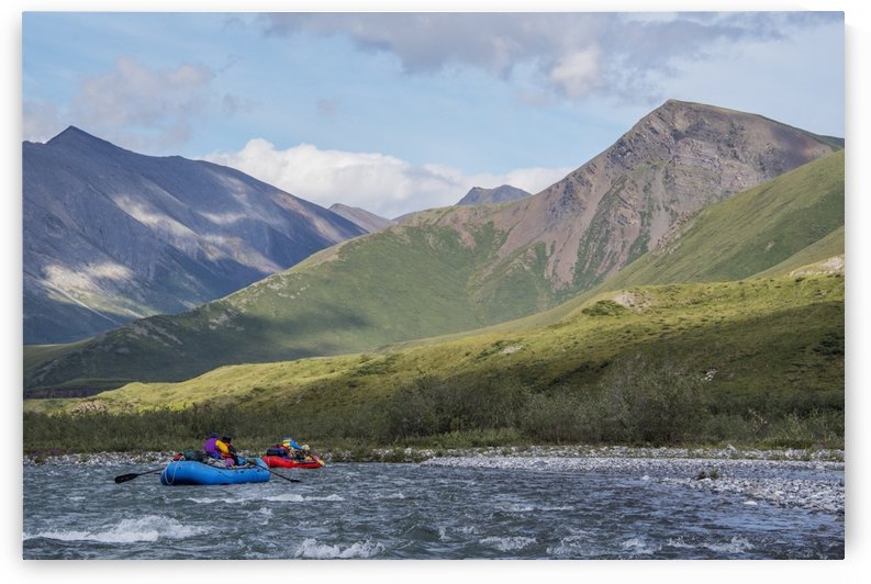 Rafters enjoy the day along the Marsh Fork of the Canning River in the Arctic National Wildlife Refuge, Summer, Alaska by PacificStock