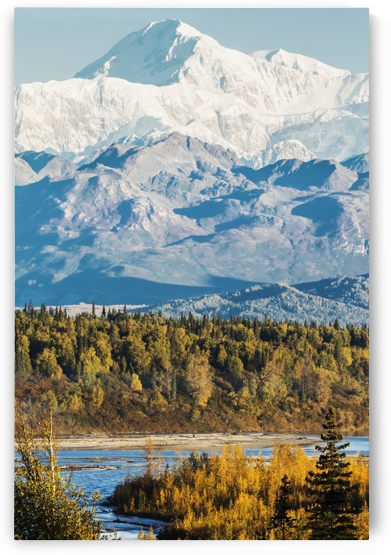 Denali, viewed from the Parks Highway, interior Alaska, near South Viewpoint rest stop; Alaska, United States of America by PacificStock
