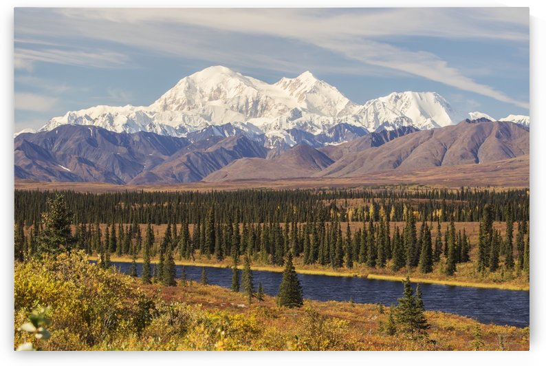 Denali, viewed from south of Cantwell, from the Parks Highway in Interior Alaska; Alaska, United States of America by PacificStock