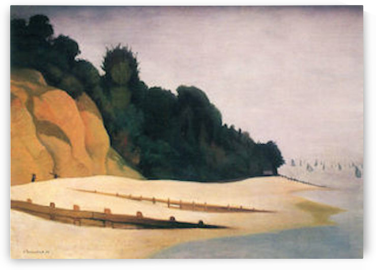 Shore scene with tree silhouette by Felix Vallotton by Felix Vallotton
