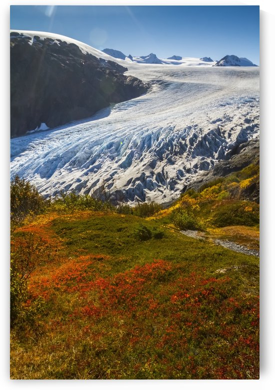Exit Glacier near Seward, Alaska in South-central Alaska in autumn; Alaska, United States of America by PacificStock