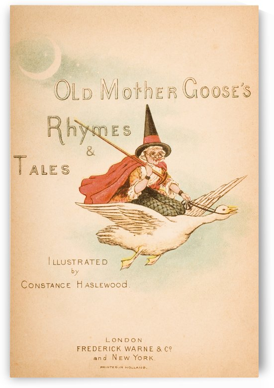 Title page from Old Mother Goose's Rhymes and Tales  Illustration by Constance Haslewood  Published by Frederick Warne & Co London and New York circa 1890s  Chromolithography by Emrik & Binger of Holland by PacificStock