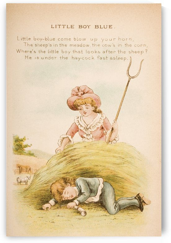 Little Boy Blue from Old Mother Goose's Rhymes and Tales  Illustration by Constance Haslewood  Published by Frederick Warne & Co London and New York circa 1890s  Chromolithography by Emrik & Binger of Holland by PacificStock