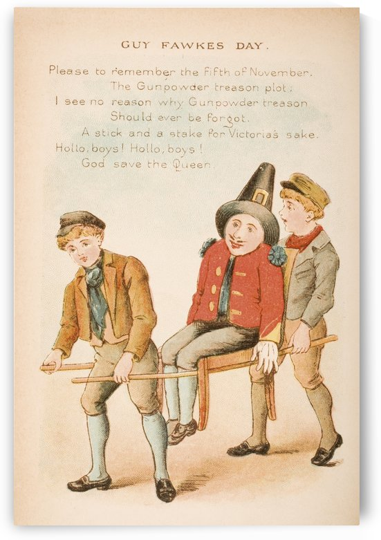 Guy Fawkes Day from Old Mother Goose's Rhymes and Tales  Illustration by Constance Haslewood  Published by Frederick Warne & Co London and New York circa 1890s  Chromolithography by Emrik & Binger of Holland by PacificStock
