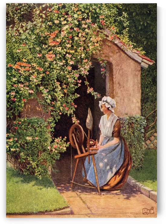 Coloured illustration by Eleanor Fortescue Brickdale illustrating the poem A Wish by Rogers. From the book Palgrave's GoldenTreasury of Songs and Lyrics published 1919. by PacificStock