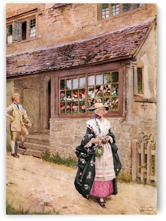 Coloured illustration by Eleanor Fortescue Brickdale illustrating the poem O Saw Ye Bonnie Lesley by Burns. From the book Palgrave's GoldenTreasury of Songs and Lyrics published 1919. by PacificStock