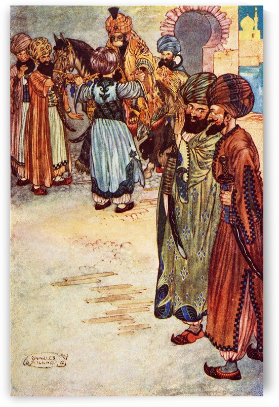 The History of the Second Calender. Illustration by Charles Folkard from the book The Arabian Nights published 1917 by PacificStock