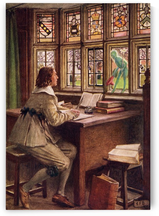 Coloured illustration by Eleanor Fortescue Brickdale illustrating the poem Madrigal by Shakespeare. From the book Palgrave's GoldenTreasury of Songs and Lyrics published 1919. by PacificStock