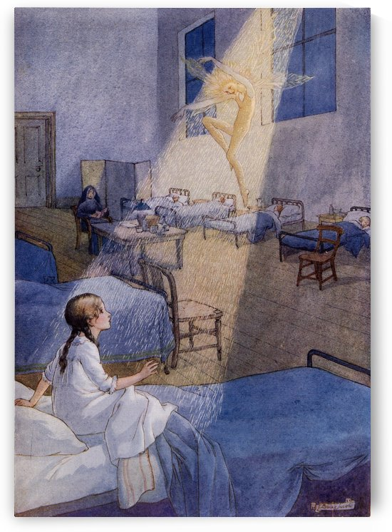 The Sand Fairy. From the picture by Louise Jacobs from the book Princess Marie-José's Children's Book published 1916. by PacificStock