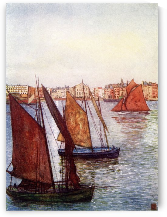 At the Mouth of the Seine, Le Havre, France. Colour illustration from the book France by Gordon Home published 1918 by PacificStock
