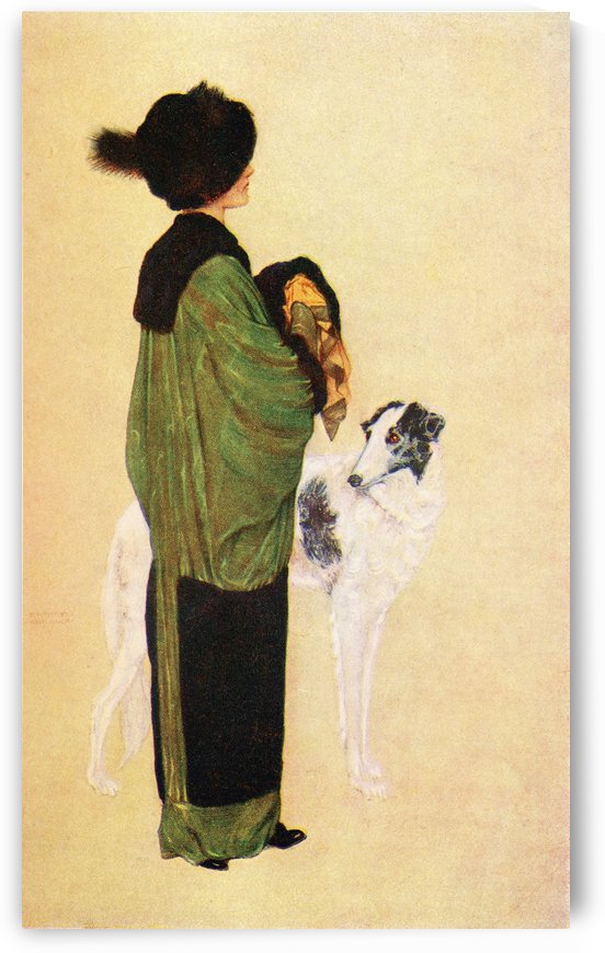 The Chic Frenchwoman. Colour illustration from the book France by Gordon Home published 1918 by PacificStock