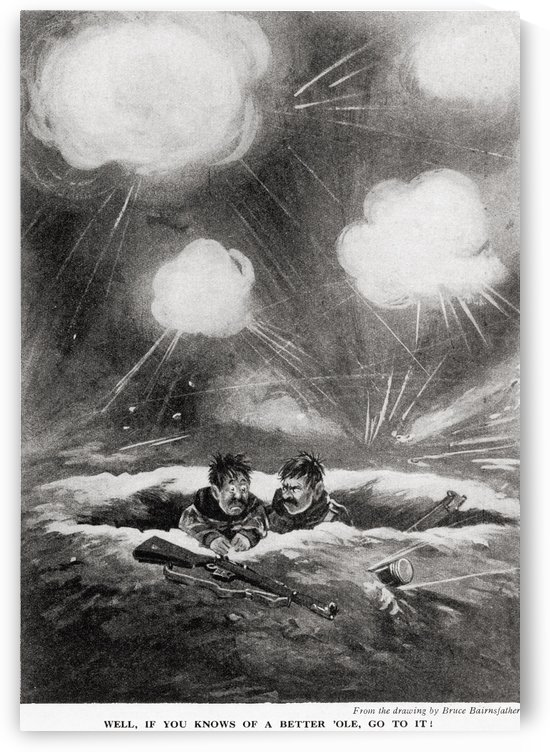 Well, if you knows of a better ole, go to it! After the wartime cartoon by Bruce Bairnsfather. From the magazine Twenty Years After The Battlefields of 1914-1918 Then and Now by Sir Ernest Swinton published 1938. by PacificStock