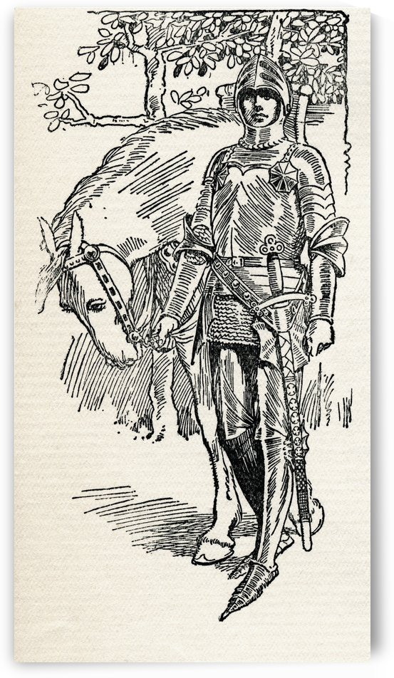 Sir Galahad. Illustration from the book The Gateway to Tennyson published 1910. by PacificStock