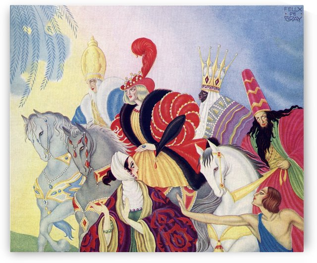 The Three Wise Men.  Front cover Illustration by Felix de Gray from The Illustrated London News, Christmas Number, 1933. by PacificStock