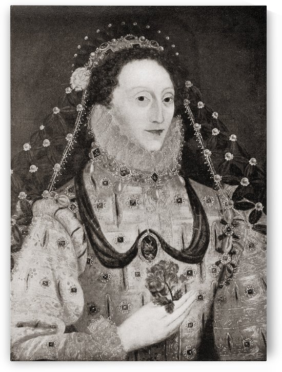 Elizabeth I,  1533 to 1603.  Queen of England and Ireland.  From the book Elizabeth and Essex by Lytton Strachey published 1928. by PacificStock