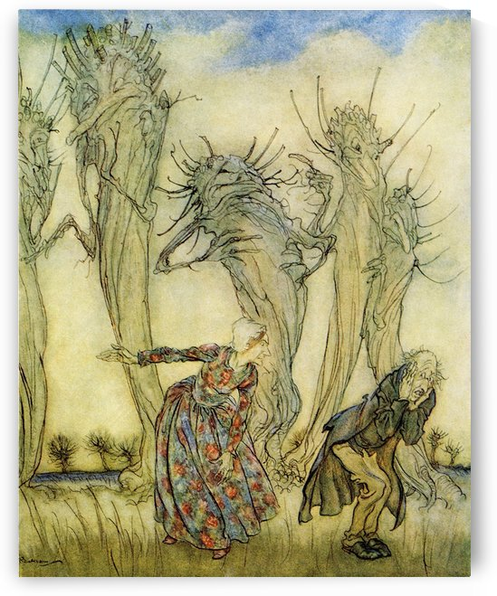 Mr and Mrs Vinegar.  From the book English Fairy Tales retold by F.A. Steel with illustrations by Arthur Rackham, published 1927. by PacificStock