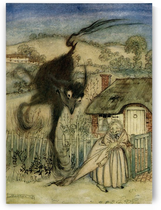The Bogey Beast.  From the book English Fairy Tales retold by F.A. Steel with illustrations by Arthur Rackham, published 1927. by PacificStock