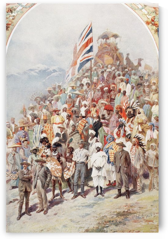 Representatives of The British Dominions beyond the seas, in England for the coronation of George V, 1910.  From The Illustrated London News, 1910. by PacificStock