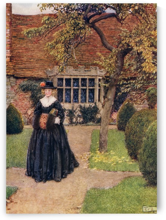 Coloured illustration by Eleanor Fortescue Brickdale illustrating the poem The Poetry of Dress by Herrick.  From the book Palgrave's GoldenTreasury of Songs and Lyrics published 1919. by PacificStock