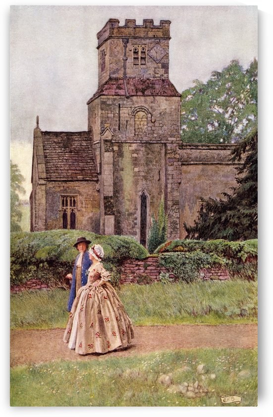 Coloured illustration by Eleanor Fortescue Brickdale illustrating the poem Sally in our Alley by Carey. From the book Palgrave's GoldenTreasury of Songs and Lyrics published 1919. by PacificStock