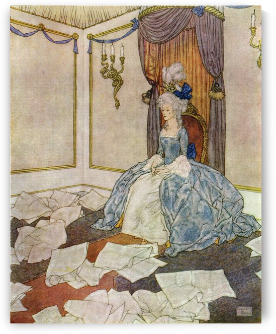 She has read all the newspapers in the world, and forgotten them again, so clever is she. Frontispiece illustration by Edmund Dulac for The Snow Queen. From Stories from Hans Andersen, published 1938. by PacificStock