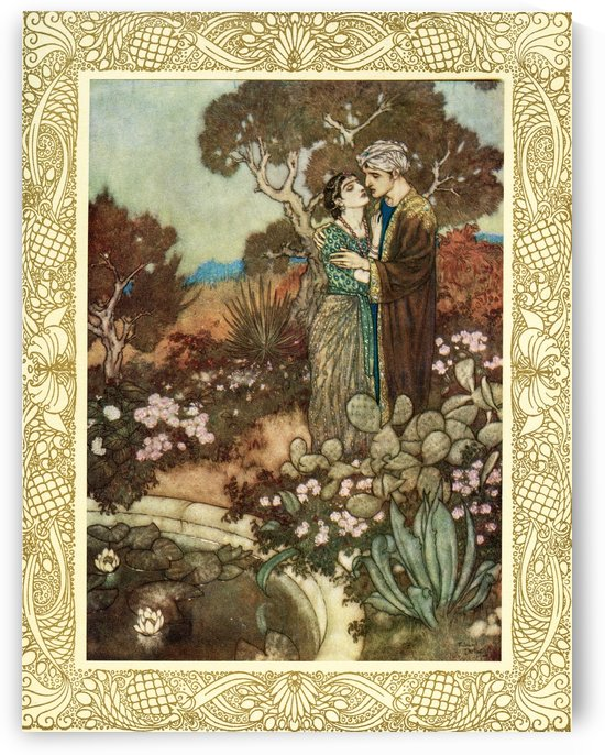 Do you, within your little hour of Grace, The waving Cypress in your Arms enlace, Before the Mother back into her arms Fold, and dissolve you in a last embrace.  Illustration by Edmund Dulac from the Rubaiyat of Omar Khayyam, published 1909. by PacificStock