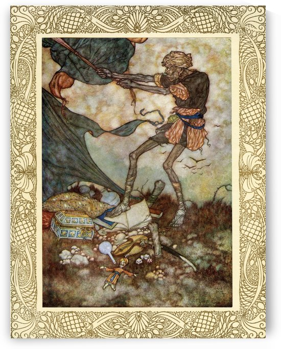 But that is but a Tent wherein may rest A Sultan to the realm of Death addrest; The Sultan rises, and the dark Ferrásh Strikes, and prepares it for another guest.  Illustration by Edmund Dulac from the Rubaiyat of Omar Khayyam, published 1909. by PacificStock