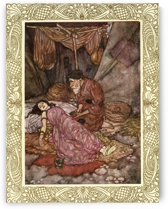 And that inverted Bowl we call The Sky, Whereunder crawling coop'd we live and die, Lift not your hands to It for help - for It As impotently rolls as you or I. Illustration by Edmund Dulac from the Rubaiyat of Omar Khayyam, published 1909. by PacificStock
