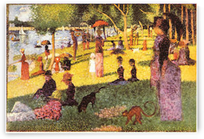 Sketch of people by Seurat by Seurat