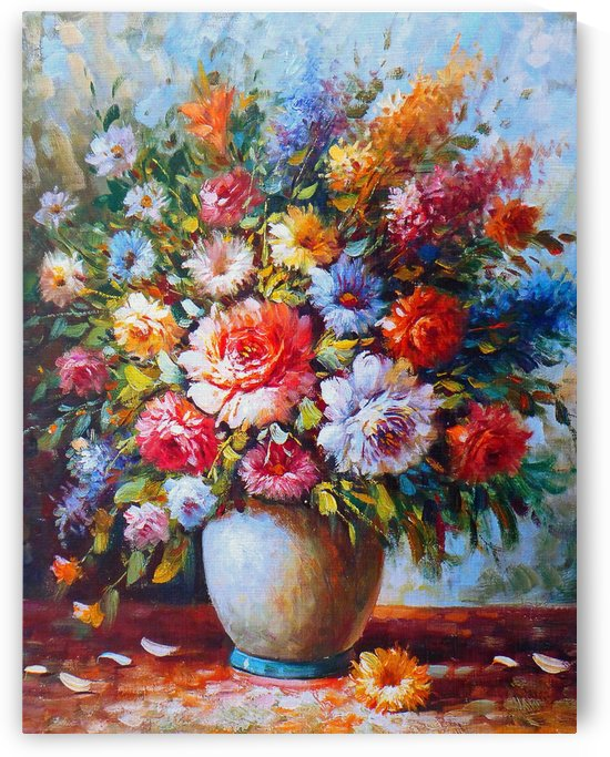 Colourful Vibrant Still Life Flowers by Joy of Life
