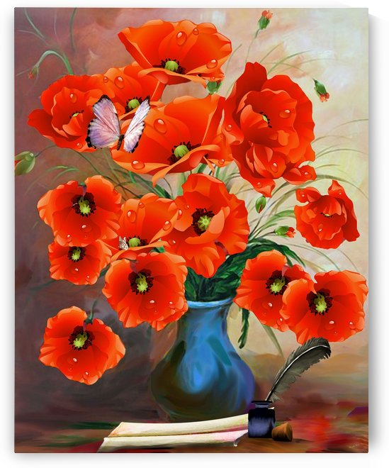 Still Life Poppies  by Joy of Life