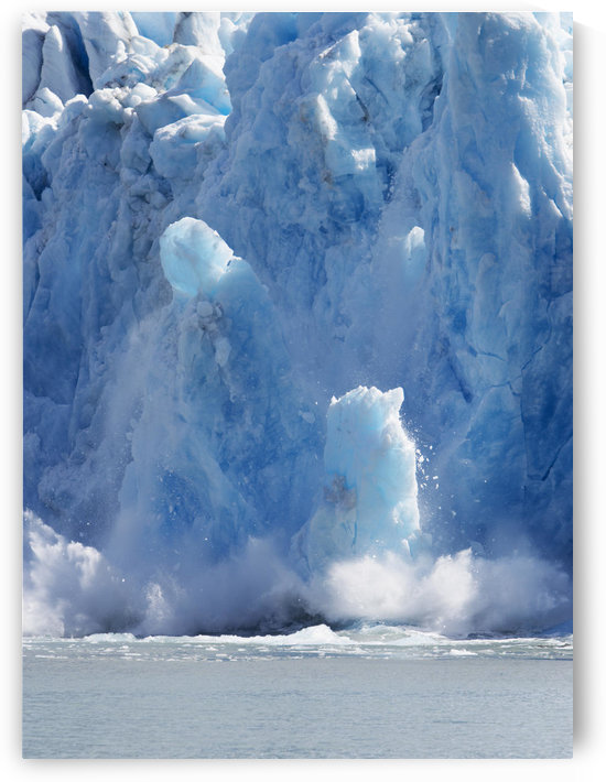 Dawes Glacier Calving In Endicott Arm In The Inside Passage In Southeast Alaska by PacificStock