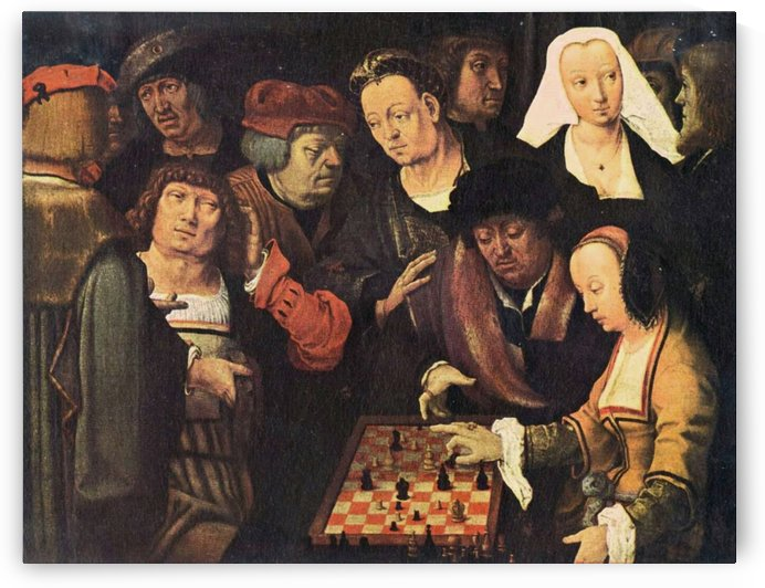 The chess game by Lucas van Leyden