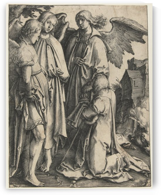 Abraham and the Three Angels by Lucas van Leyden