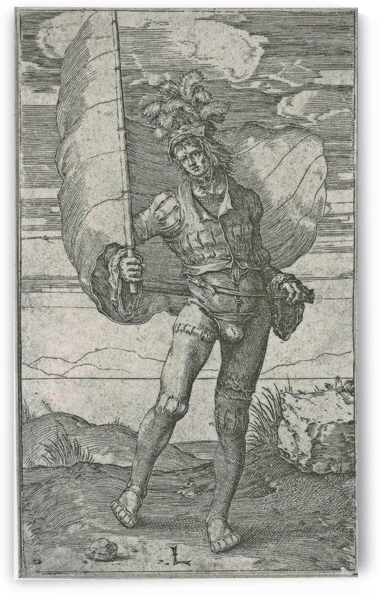 Standard bearer by Lucas van Leyden