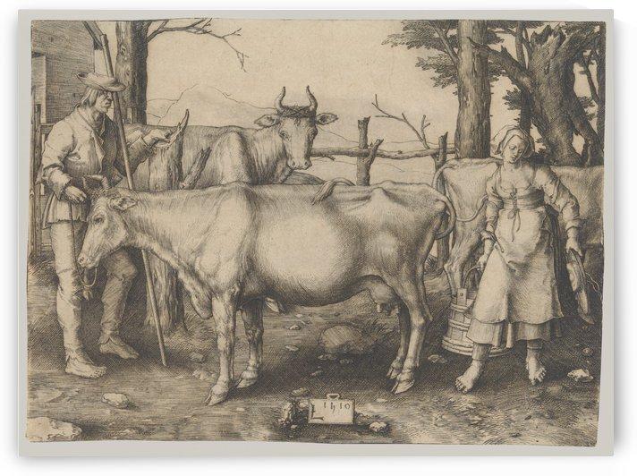 The Milkmaid by Lucas van Leyden