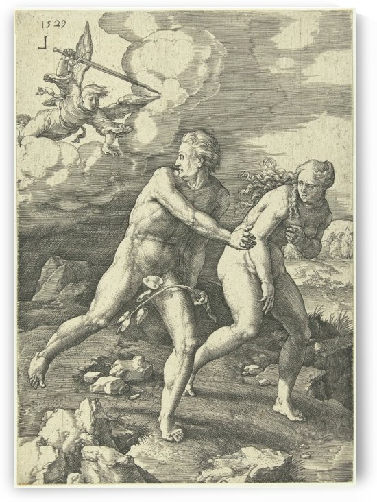 The Expulsion from Paradise by Lucas van Leyden