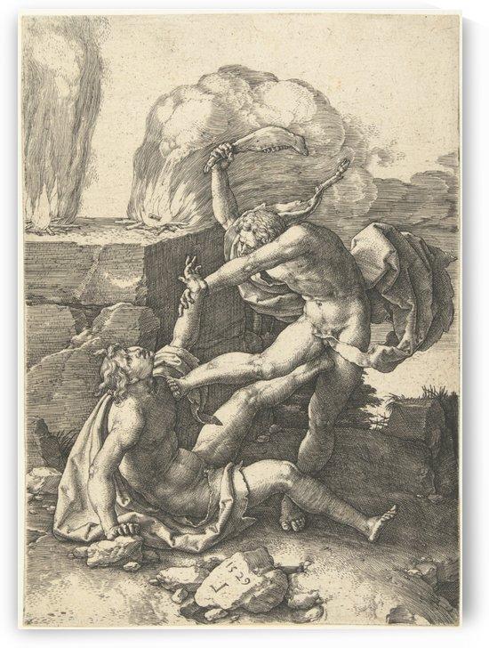 Cain kills Abel by Lucas van Leyden