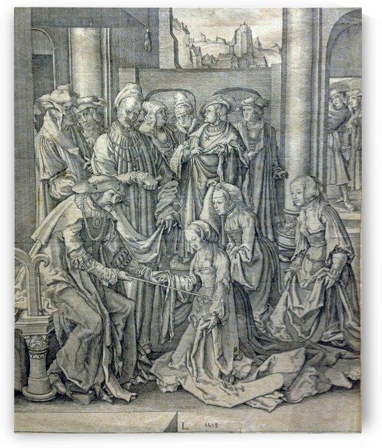 Esther before Ahasuerus by Lucas van Leyden