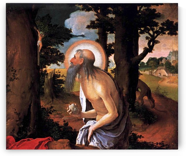St Jerome Penitent by Lucas van Leyden