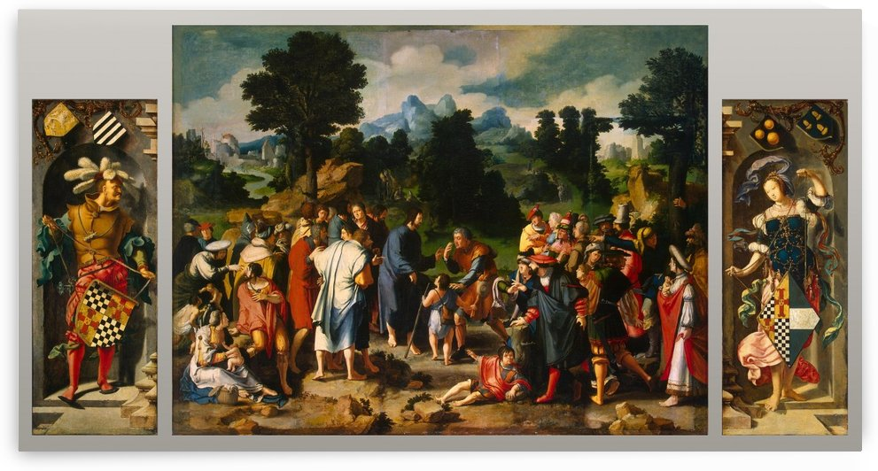 Healing of Blind Man of Jericho by Lucas van Leyden