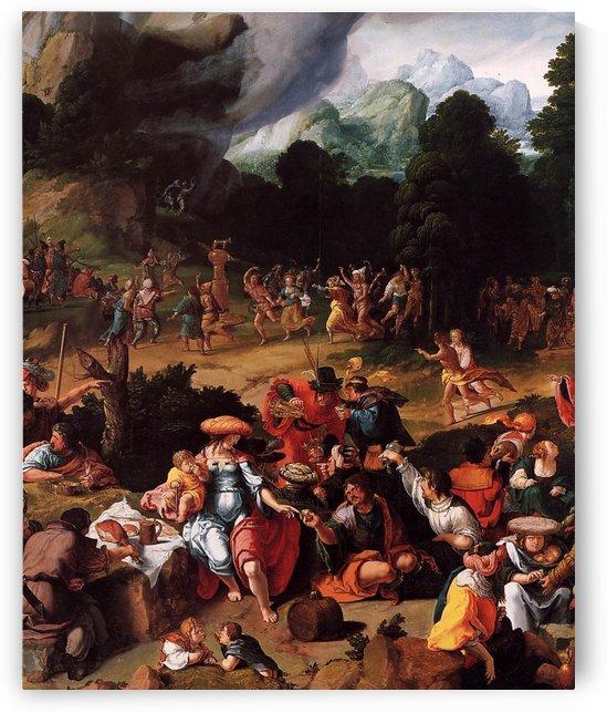 Worshipping of the Golden Calf by Lucas van Leyden