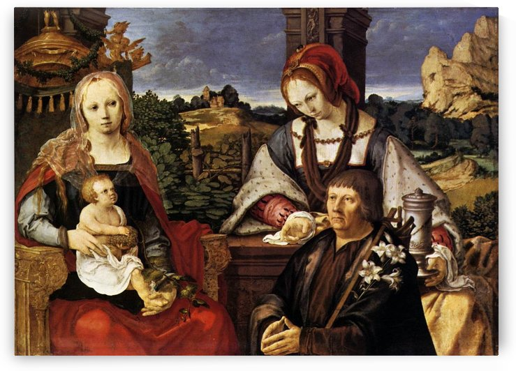 Virgin and Child with Mary Magdalen and a donor by Lucas van Leyden