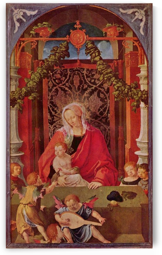 Maria with Child and several angels by Lucas van Leyden