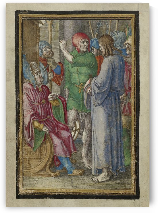 Christ before Annas by Lucas van Leyden