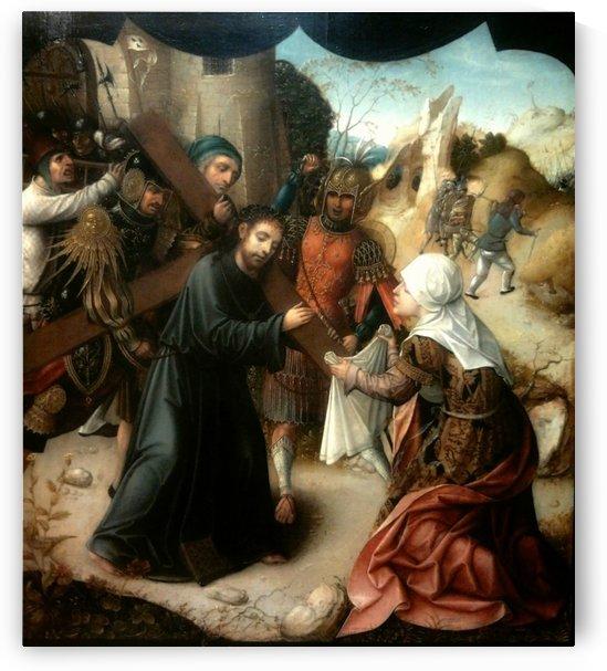 St Veronica helping Jesus by Lucas van Leyden