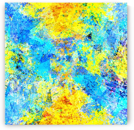psychedelic geometric abstract pattern in yellow and blue by TimmyLA
