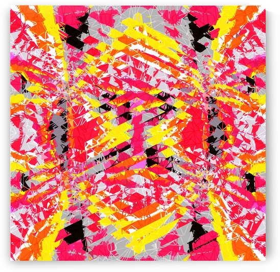 psychedelic geometric abstract pattern in red yellow black by TimmyLA