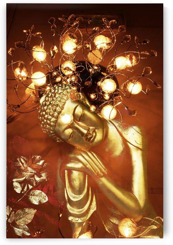 Golden Buddha by Mystic Art